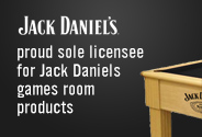 Proud sole licensee for Jack Daniels Games room products