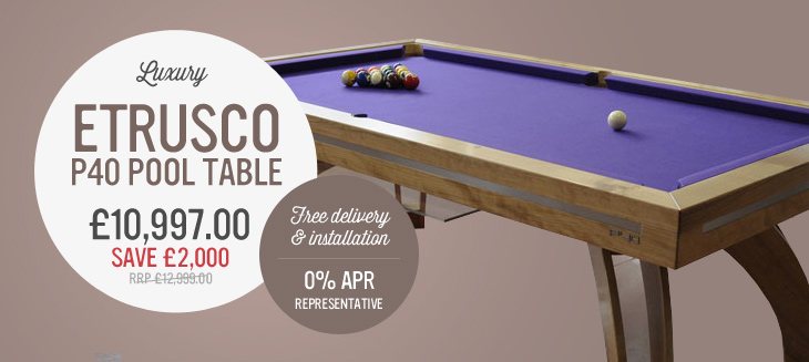Etrusco P40 Pool Table save £2,002