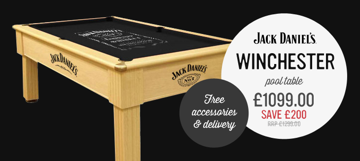 Jack Daniel's Winchester Pool Table only £1049