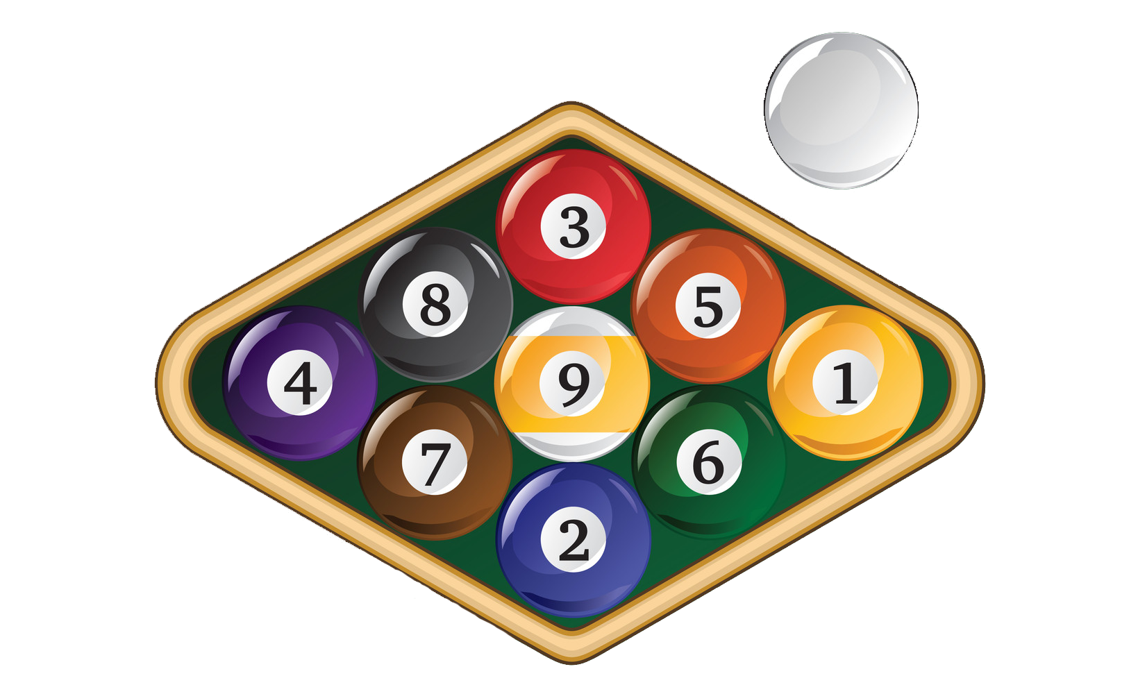 how to rack in 9-ball pool