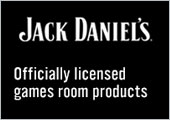 Jack Daniels! Officially Licensed Games Room Products.