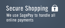 Secure Shopping - We use SagePay to handle all online payments