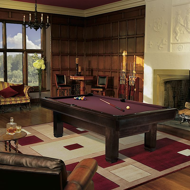 Brunswick Bridgeport Pool Table - Room Shot
