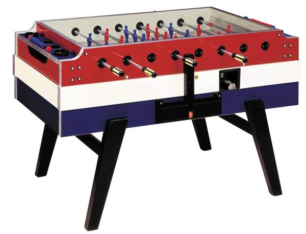 An image of Garlando Coperto Deluxe Football Table - Red, White and Blue Finish