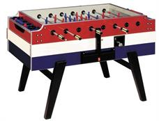 Garlando Coperto Deluxe Football Table - Red, White and Blue Finish