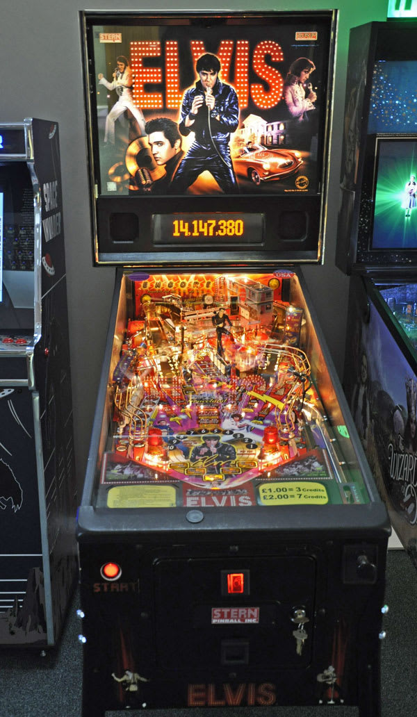 Elvis Pinball Machine Full Body Front Cabinet Home Leisure Direct Showroom