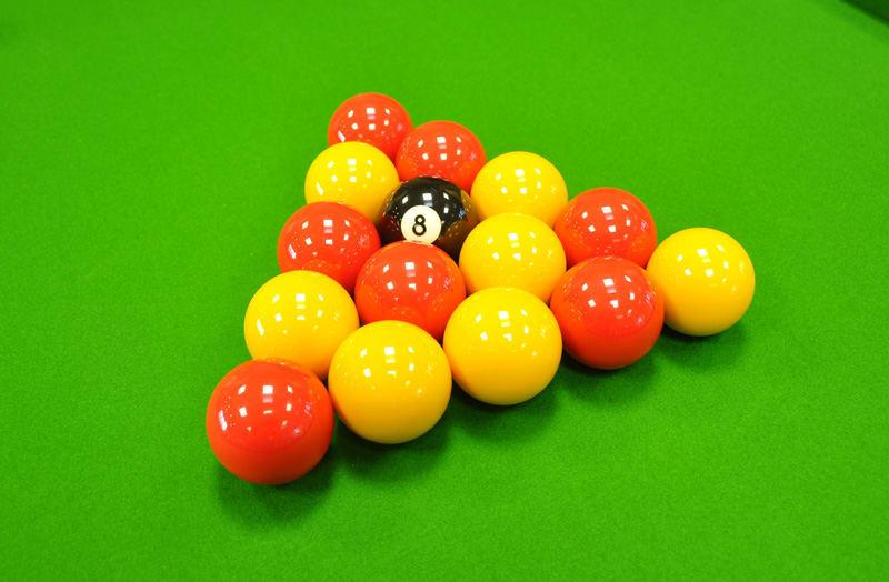 Aramith Reds and Yellows Balls