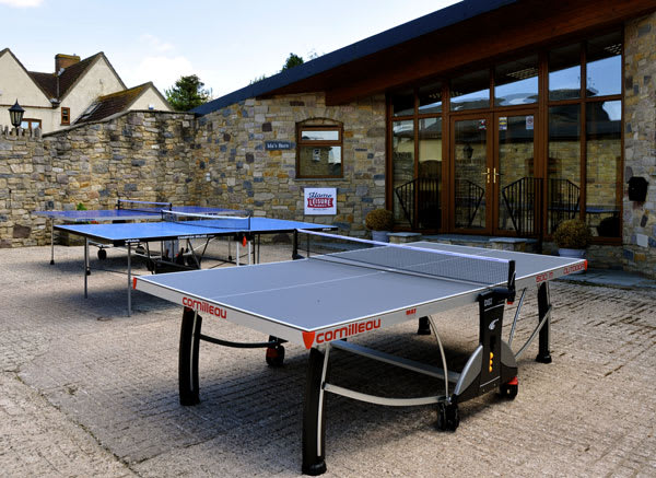 Table Tennis Tables Outside our Showrooms