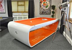 Toulet Blacklight Luxury Pool Tables - White