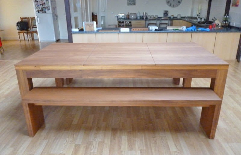 Teak Lewis with Table Tops & Benches Side