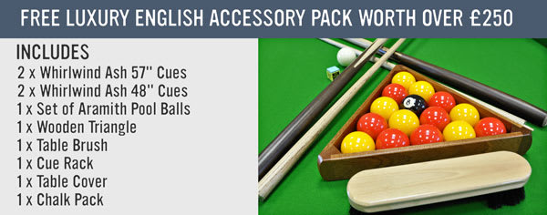 Free Luxury English Pool Accessory Pack