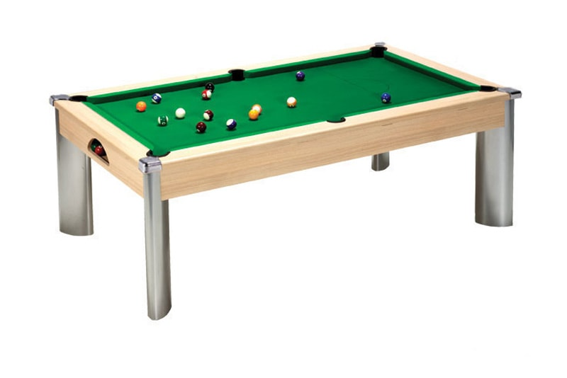 An image of Fusion Pool Dining Table: Oak - 6ft, 7ft
