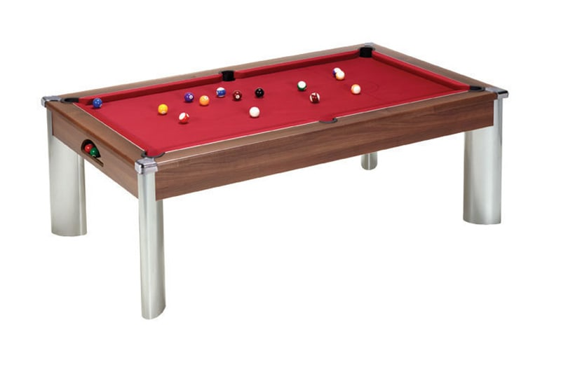 An image of Fusion Pool Dining Table: Dark Walnut - 6ft, 7ft
