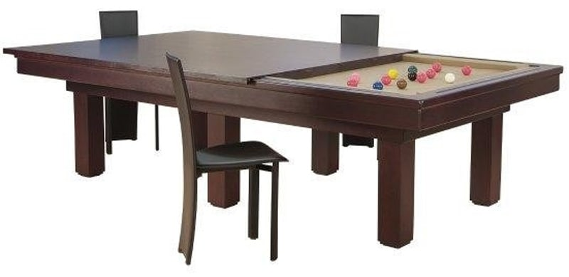 Etrusco Casino Pool Table in Wenge with Dining Top