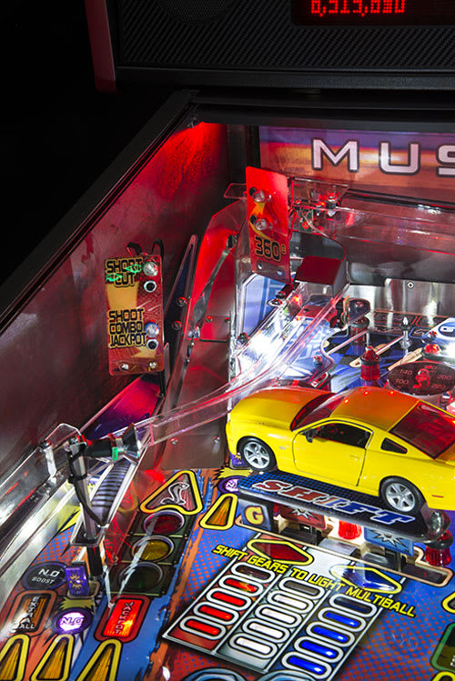 Stern Mustang Pro Pinball Machine Playfield Close Up Home Leisure Direct