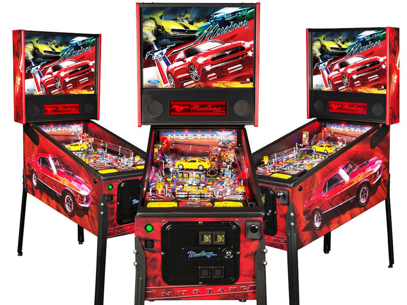 Mustang Stern Pinball Machine Ford Full Body Cabinet Home Leisure Direct