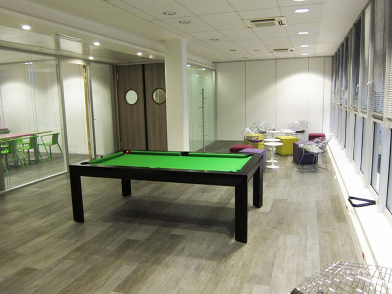 Heimo Pool Table - Ebony with Green Cloth