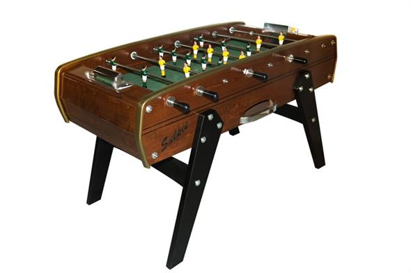 Sulpie Evolution Football Table - Walnut Stain