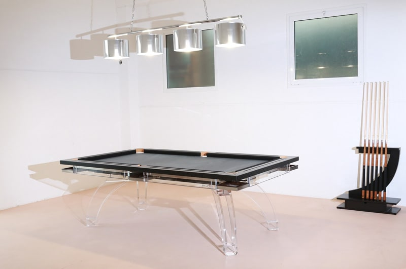 Etrusco P40 Full Plexiglass Pool Table - Room Shot