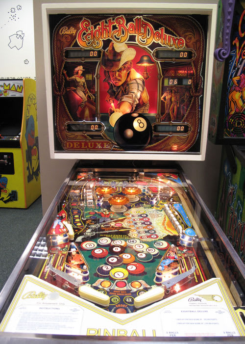 Eight Ball Deluxe Pinball Machine Playfield & Backboard