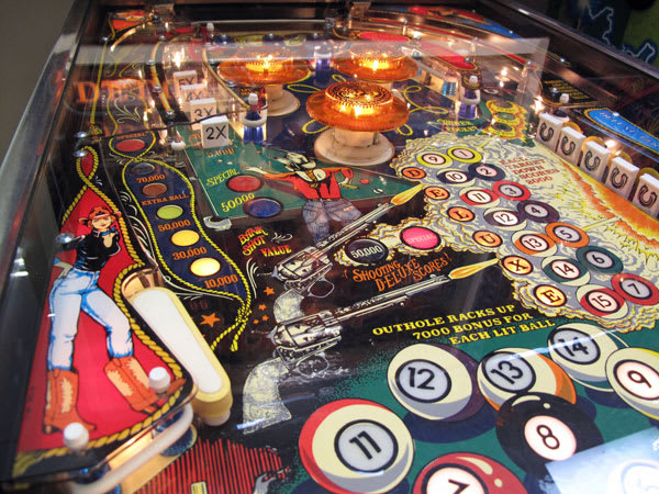 Eight Ball Deluxe Pinball Machine Playfield Close-Up