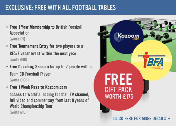 Foosball Special Offer - All Tables