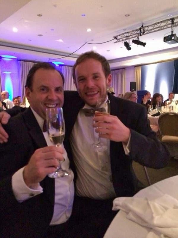 Andy & Roger at the ECMOD Awards 2014 Best Website