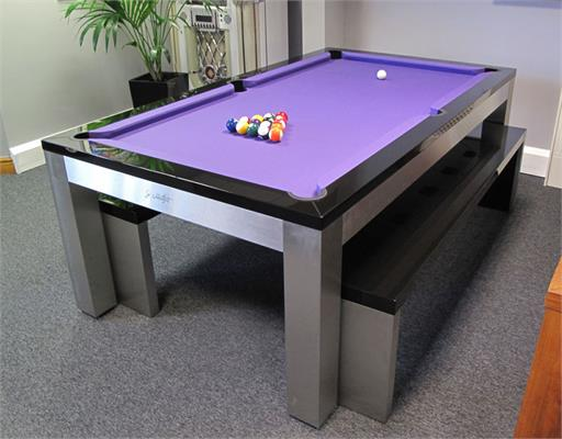 Billards Montfort Lewis Stainless Steel Luxury Pool Table: Showroom Clearance