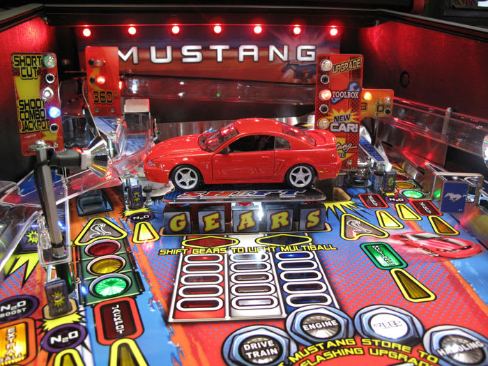 Stern Mustang Pinball Machine - Car