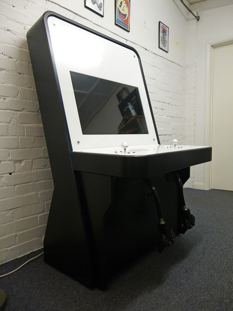 Nu Gen Arcade Machine in Black and White