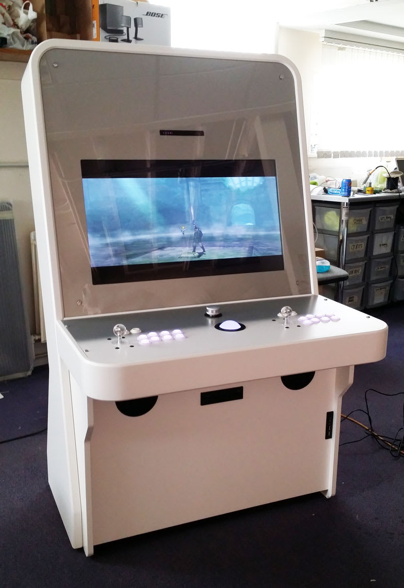 Nu Gen Arcade Machine in White from Front