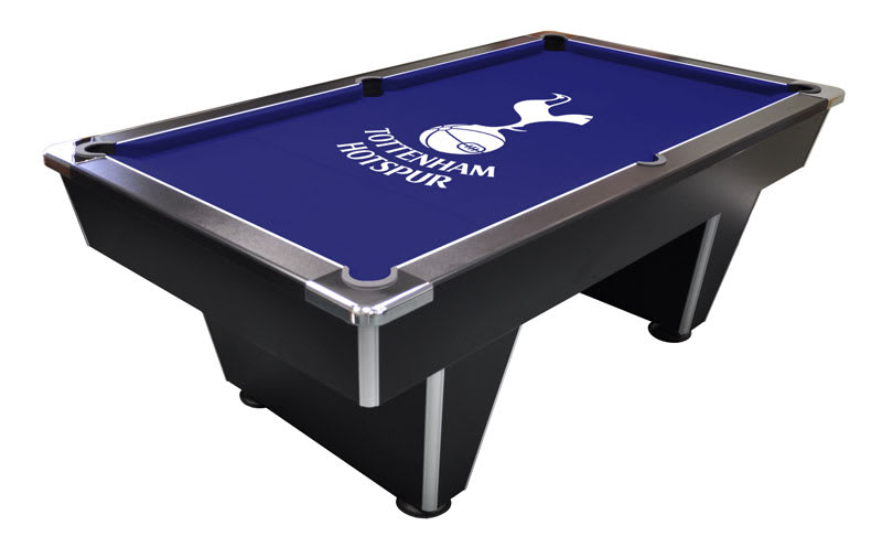 Black Slimline Pool Table with Tottenham Hotspurs Crest