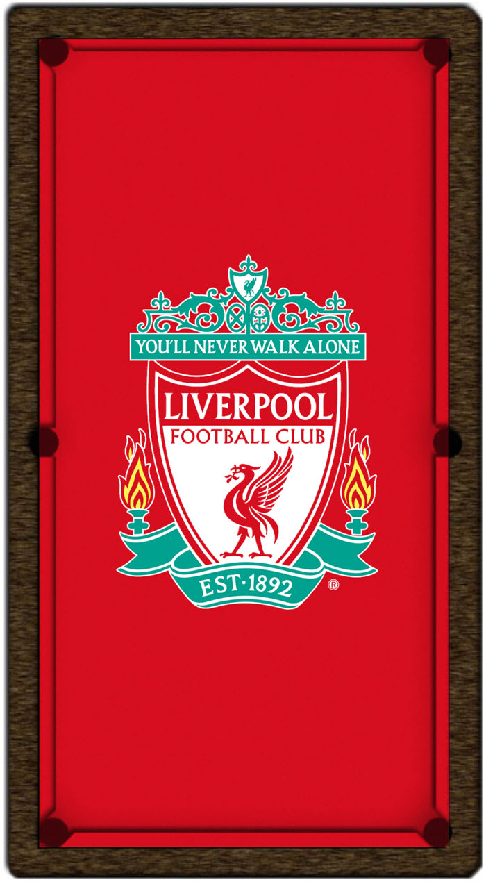 Liverpool Club Crest Pool Table Cloth
