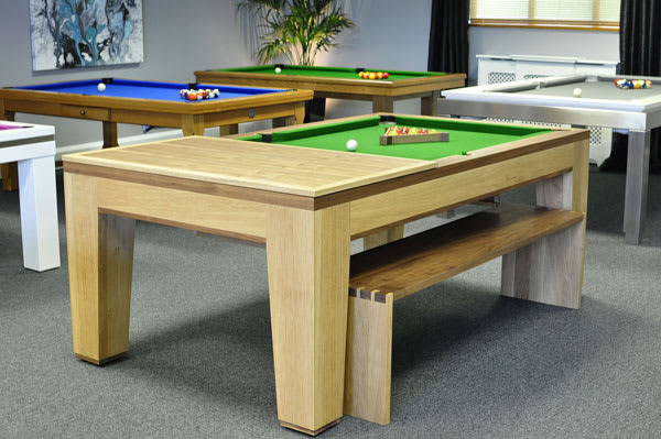 Designer Billiards Spartan Pool Dining Table - Half Top