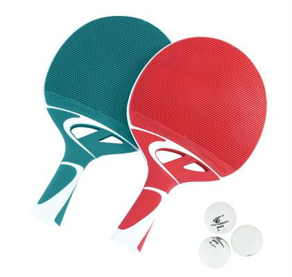Cornilleau Tacteo Composite Duo Set (Red/Turquoise) Table Tennis Bats