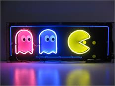 Pac-Man Neon Sign