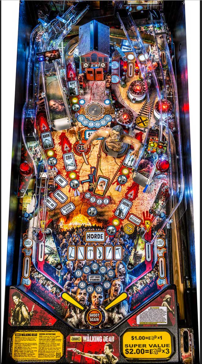 Stern The Walking Dead Pinball Machine - Pro Playfield