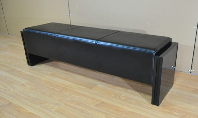 Pool Table Bench in Black
