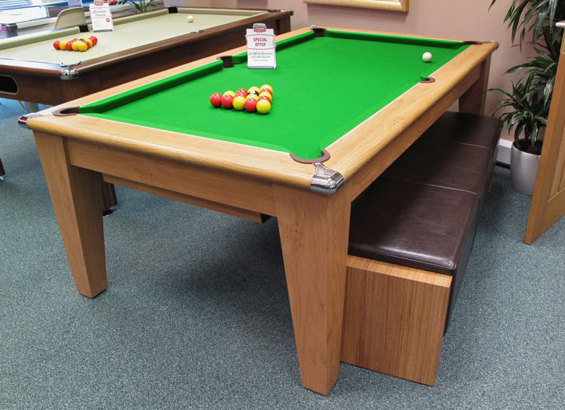 Pool Table Bench Under Table