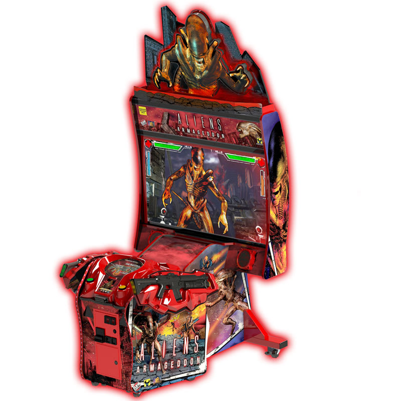An image of Aliens Armageddon Deluxe Arcade Machine