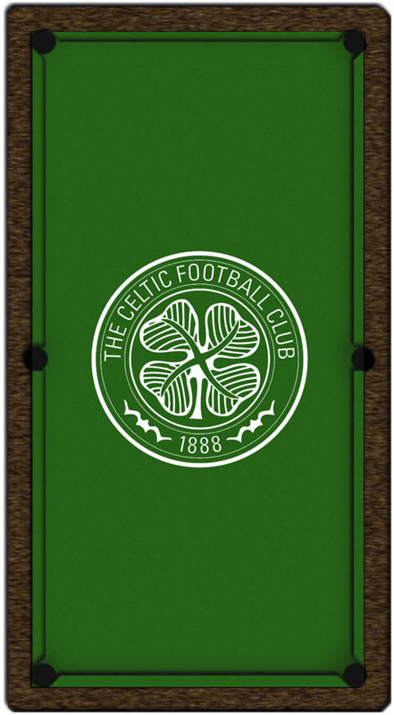 An image of Celtic FC Pool Table Cloth - 6ft