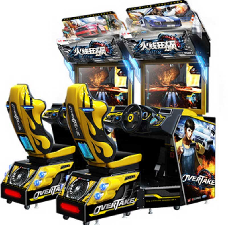 "An image of Overtake 42"" Twin Arcade Machine"