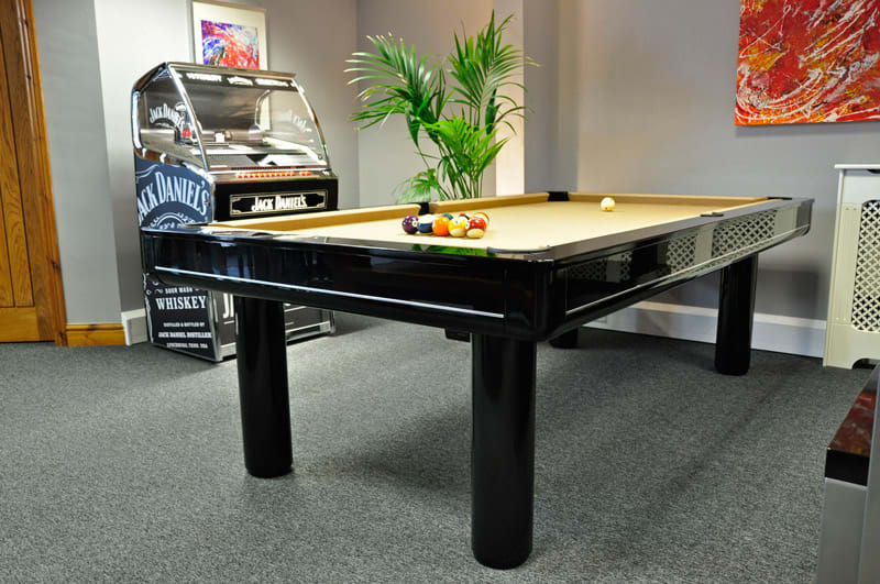An image of Longoni Elegant Black Luxury Pool Tables