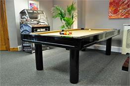 Longoni Elegant Black Pool Table   7ft, 8ft