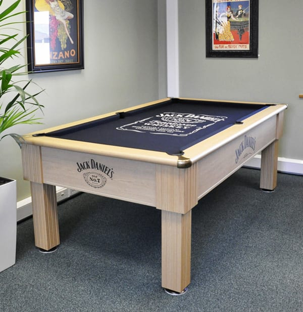 Optima Winchester Jack Daniel's Pool Table in the Home Leisure Direct Showroom