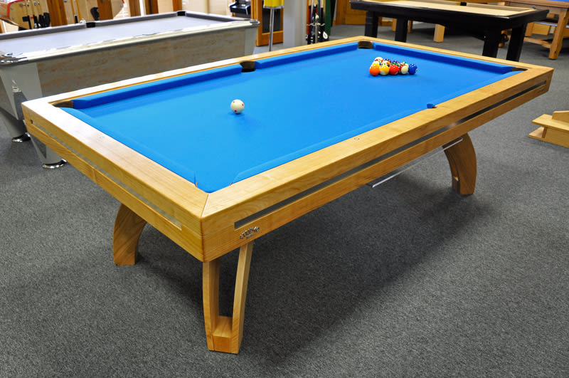 Etrusco P40 Pool Table Cherry in the Home Leisure Direct Showroom