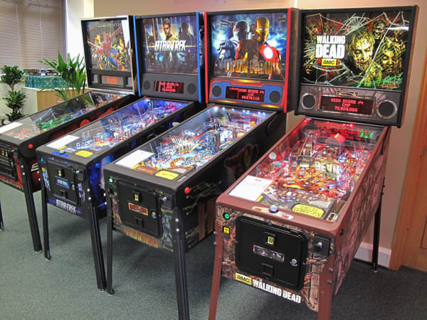 New Pinball Machines on Display at Home Leisure Direct Showroom