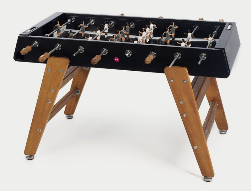 An image of RS Barcelona RS#3 Wood Football Table: Black