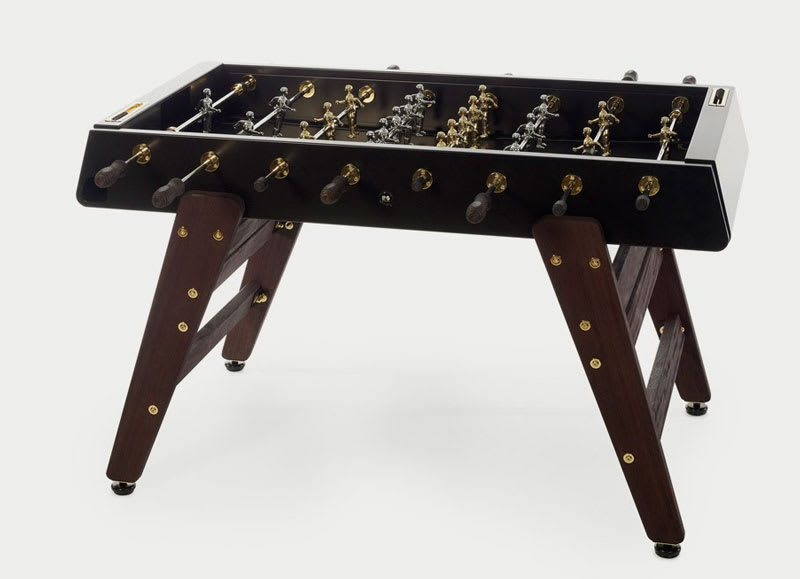An image of RS Barcelona RS#3 Wood Gold Football Table