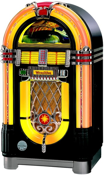 Wurlitzer One More Time OMT Jukebox in Black Finish  Free Delivery